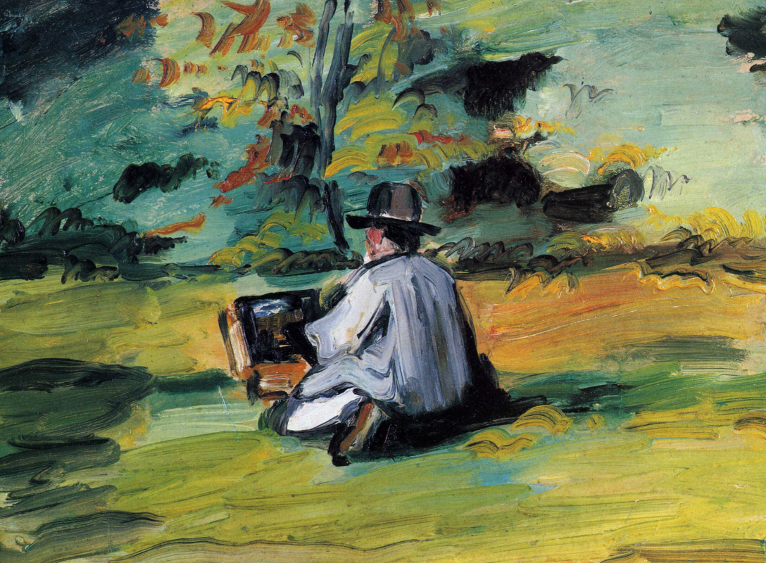 Paul Cezanne. The artist at work