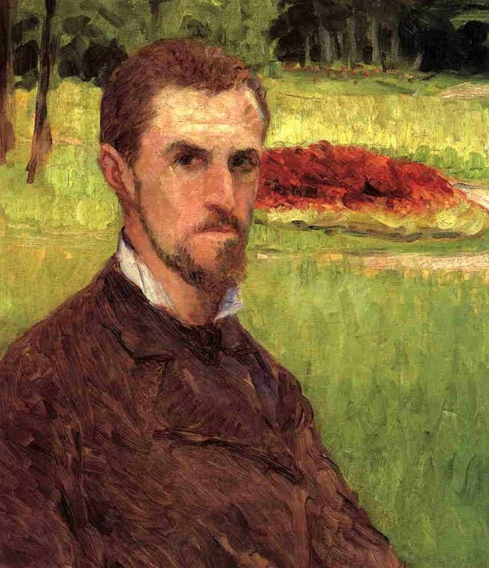 Gustave Caillebotte. Self-portrait in the Park in hyères