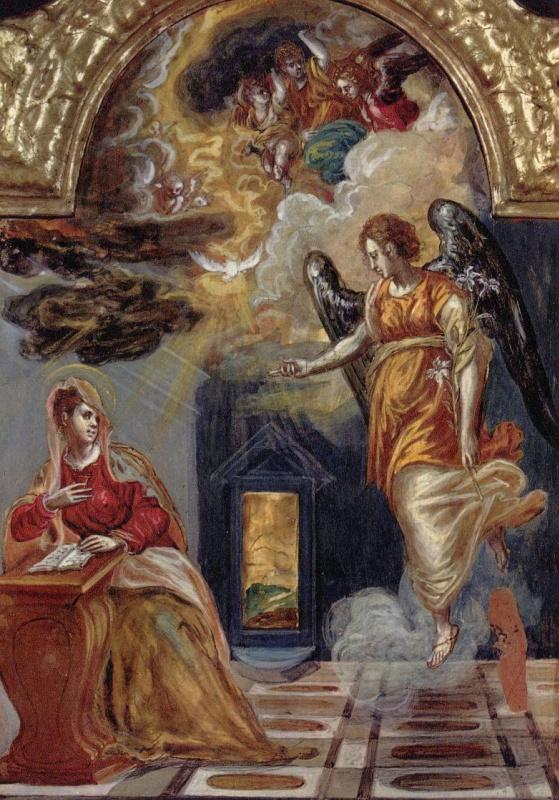 Доменико Теотокопули (Эль Греко). Благовещение Марии