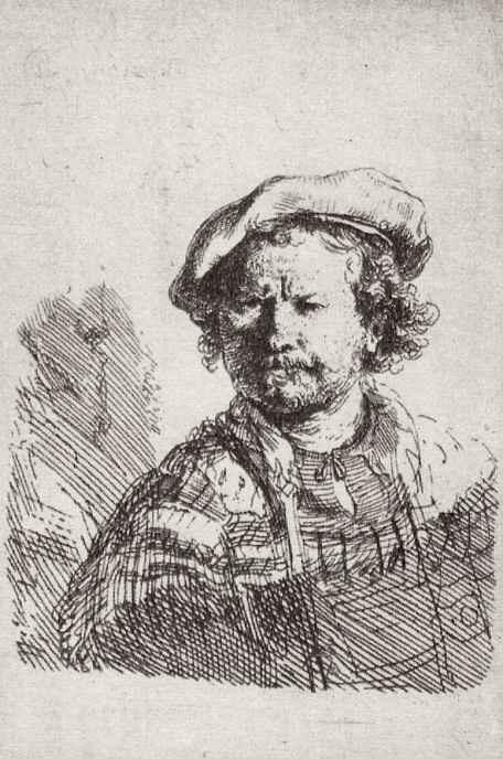 Рембрандт Харменс ван Рейн. Автопортрет в плоском берете