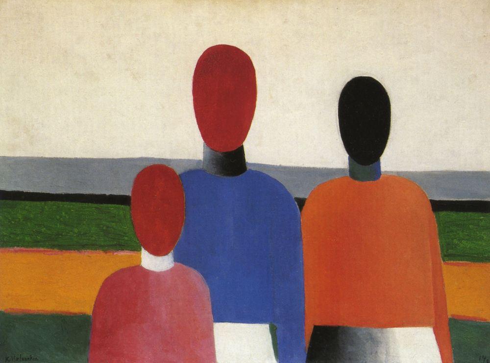 Kazimir Malevich. Three female figures