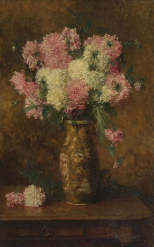 Алексей Алексеевич Харламов. Ваза с цветами.