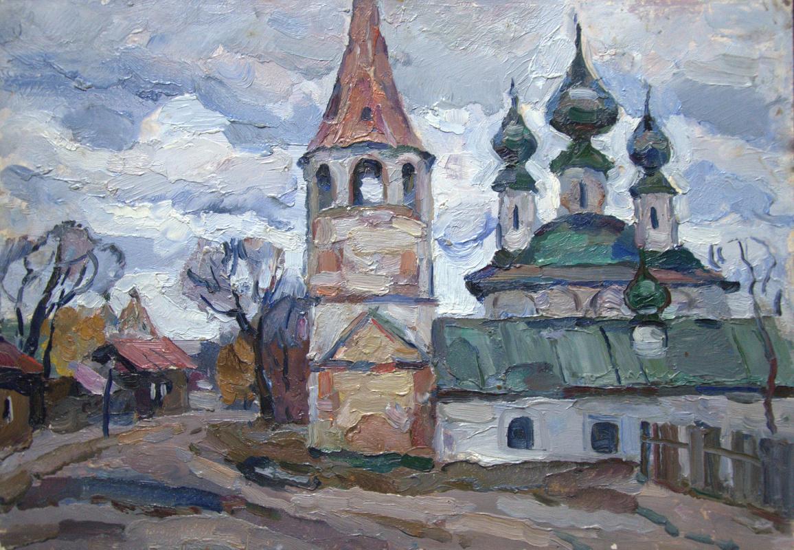 Oleg Borisovich Zakharov. Осень в Суздале. Этюд.