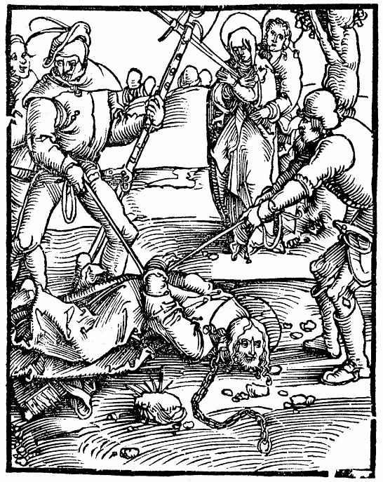 Ханс Бальдунг. Христос, падающий на улице