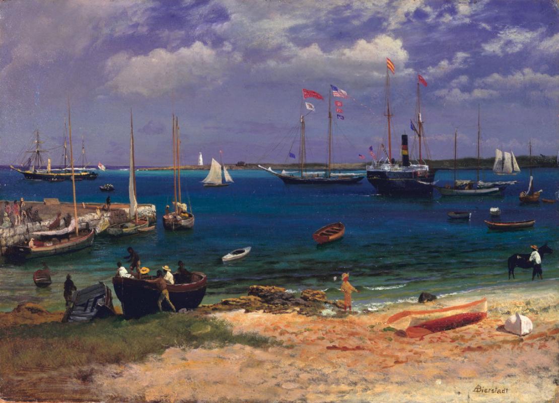 Albert Birštadt. Nassau Harbour