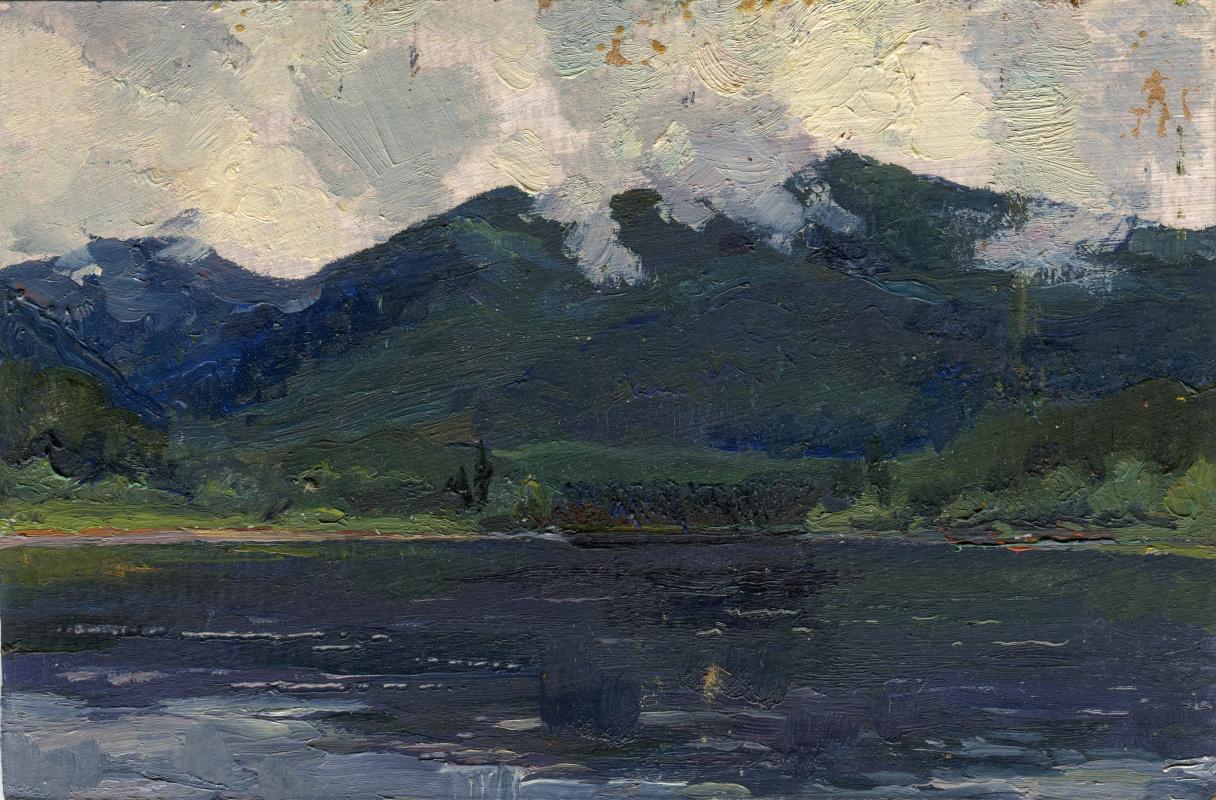"Vasily Fadeevich Demin. Etude ""Lake in the Sayan Mountains"""