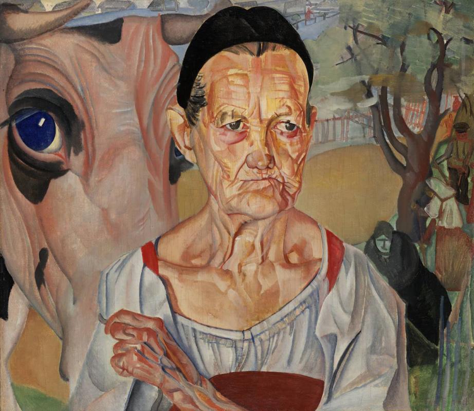 Борис Дмитриевич Григорьев. Старуха-молочница
