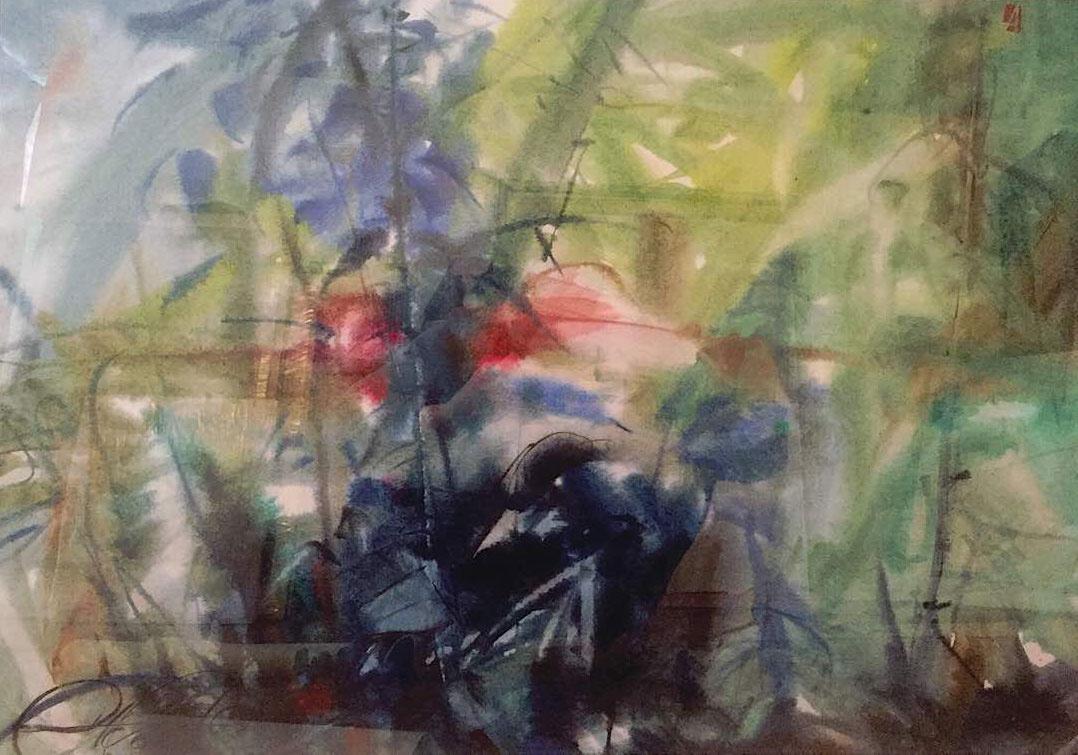 "Victor Alexeyevich Asadchikov. ""Forest sunset"""