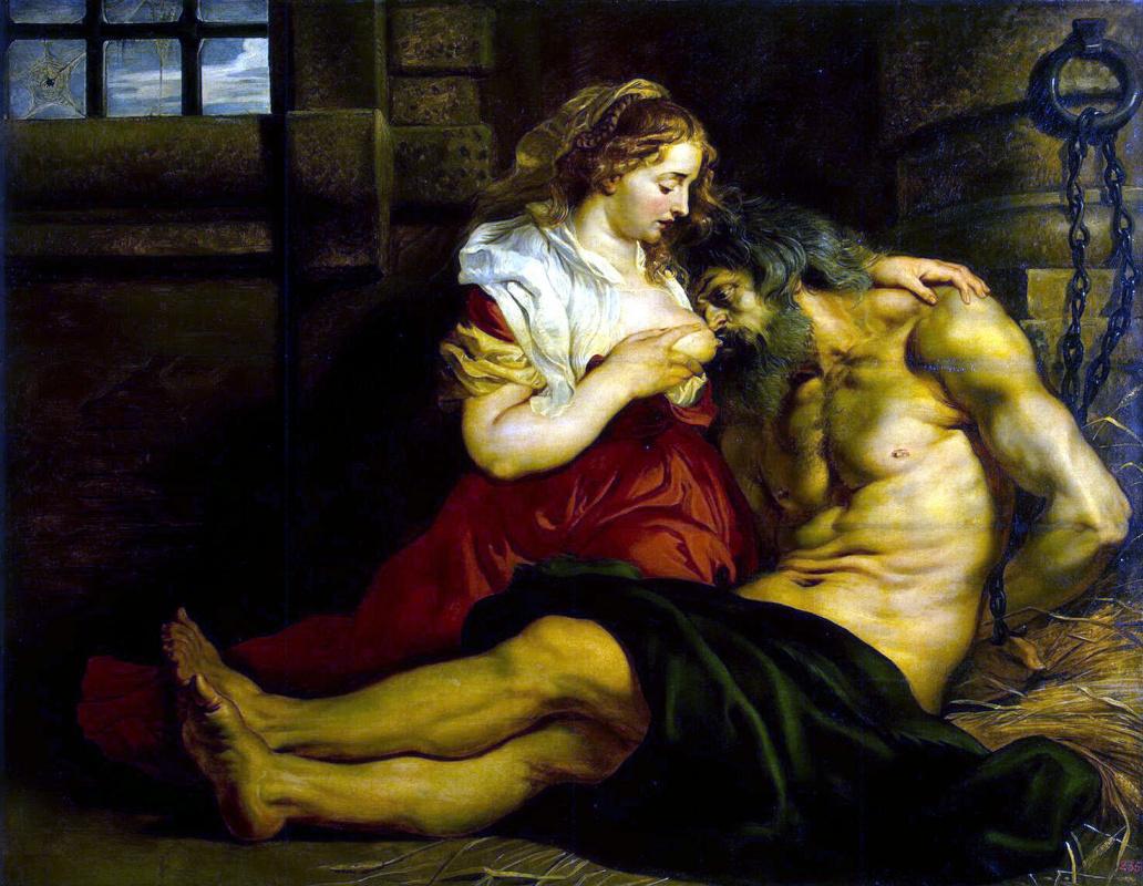 Peter Paul Rubens. Otteluun Roman women