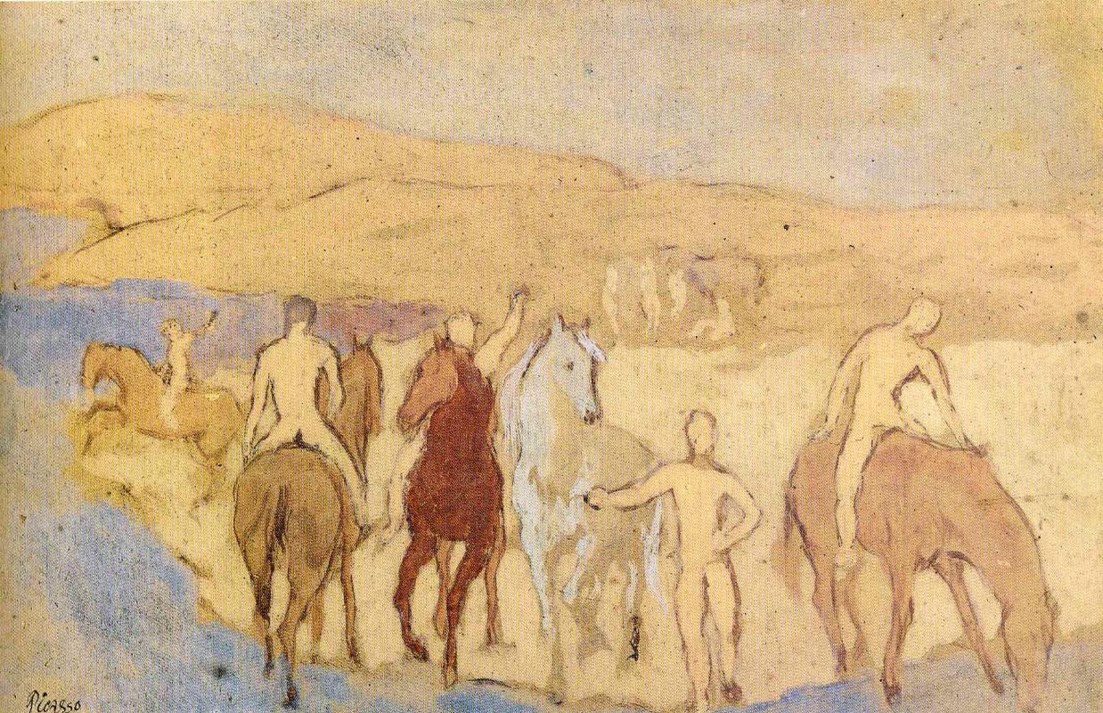 Пабло Пикассо. Обнаженные всадники
