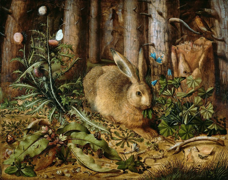 Ганс  Хоффманн. Заяц в лесу
