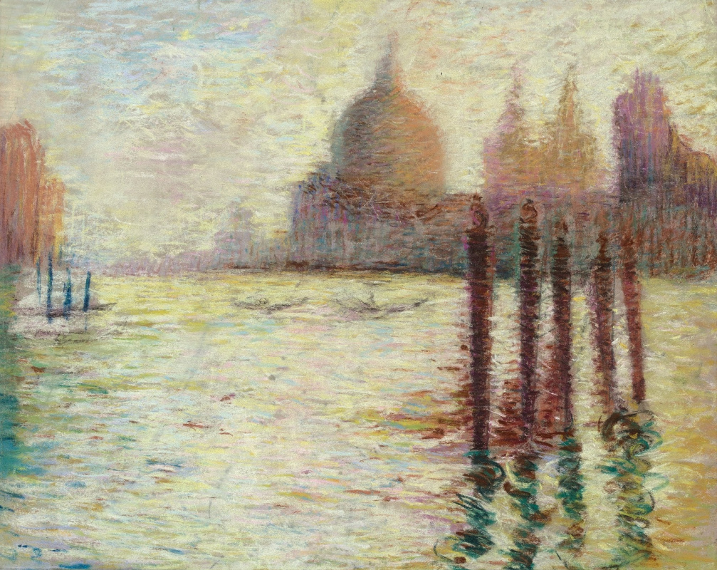 Lucien Levi-Durme. Grand Canal with Salute, Venice.