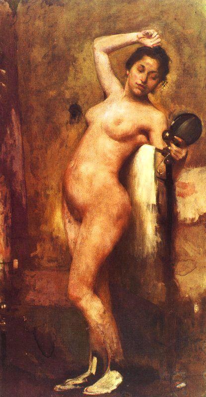 Eliseu Visconti. Nude with mirror