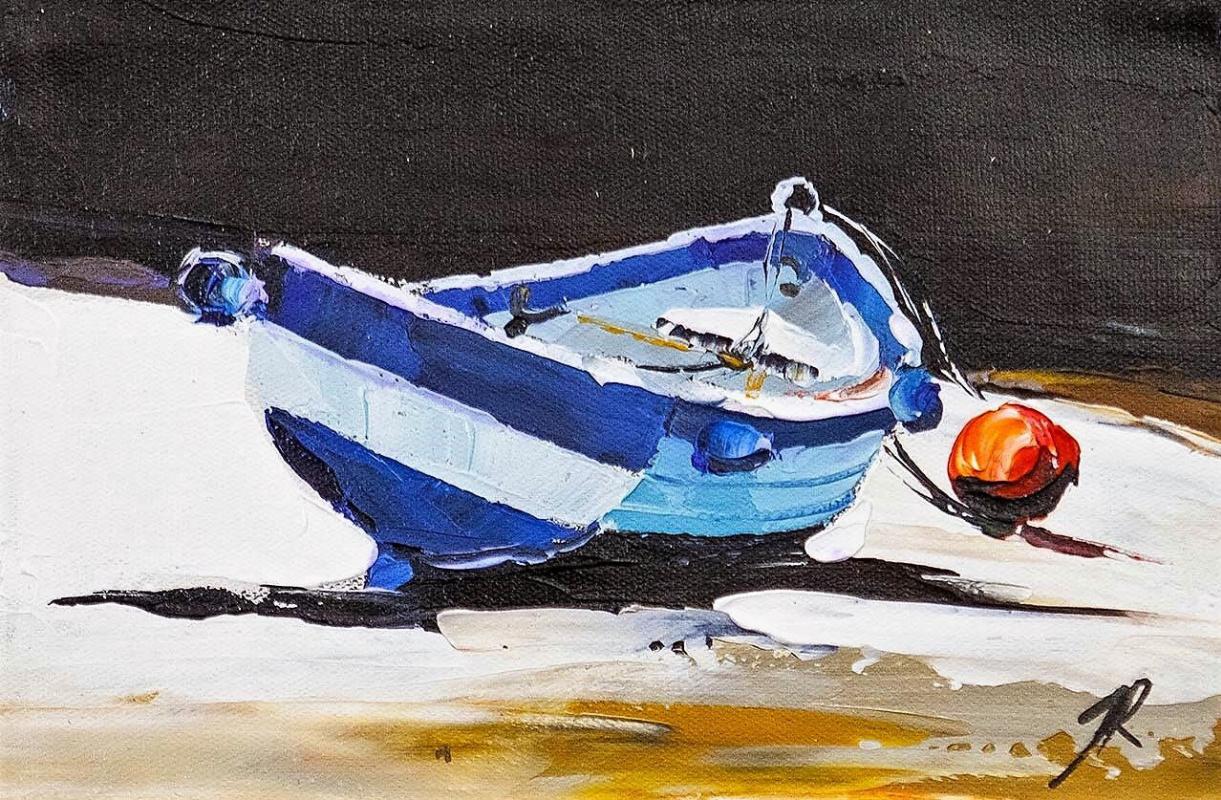 Jose Rodriguez. A boat. On the Mediterranean coast