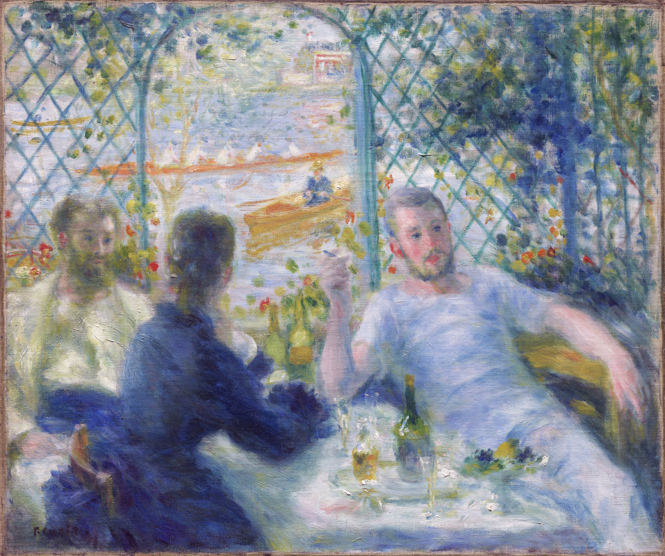 Pierre-Auguste Renoir. Lunch at the Restaurant Fournaise (The Rower's Lunch)