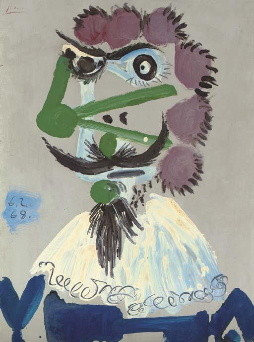 Пабло Пикассо. Бюст мушкетёра