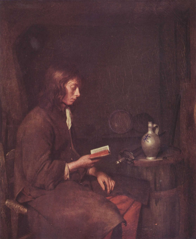 Gerard Terborch (ter Borch). Young man reading