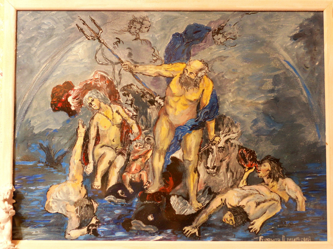 "Дмитрий Юрьевич Буянов. A free copy of Jacob Jordaens ""Neptune and Amphitrite in the storm""(1644г)"