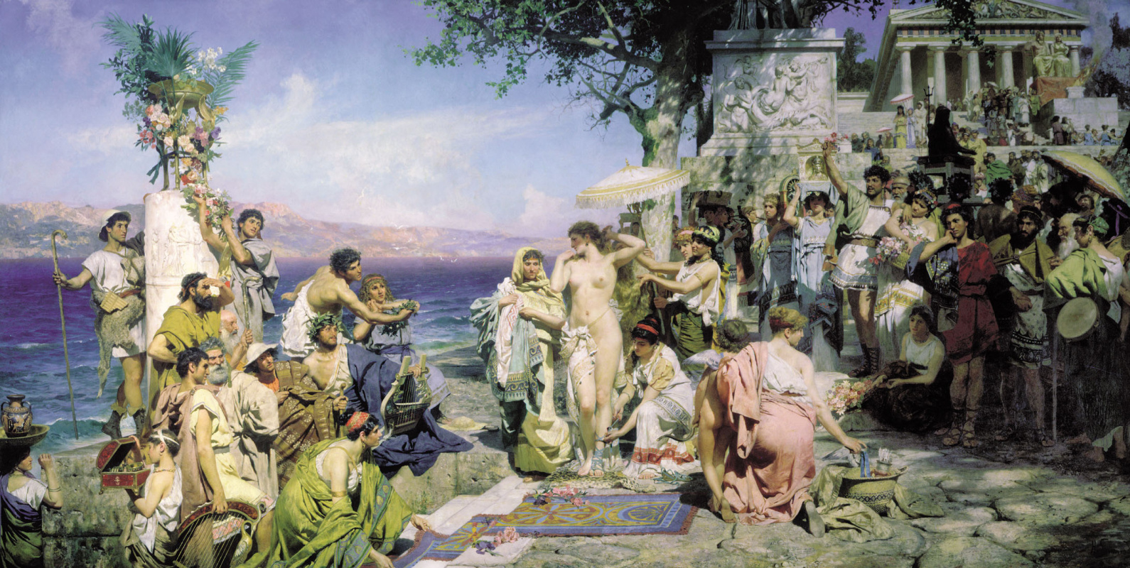 Генрих Ипполитович Семирадский. Phryne at the festival of Poseidon at Eleusis