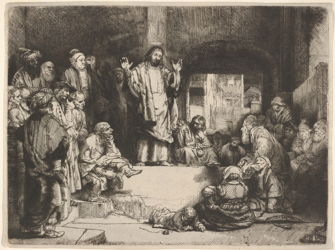 Rembrandt Harmenszoon van Rijn. The Preaching Of Christ