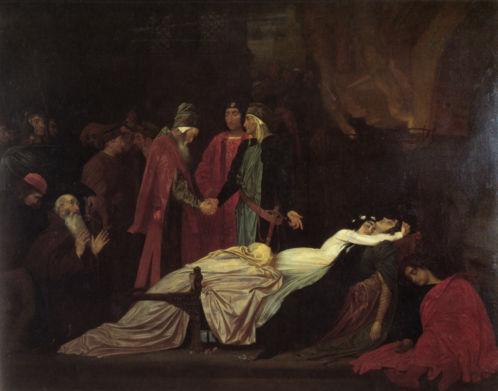 Frederic Leighton. Montague and Capulet Reconciliation