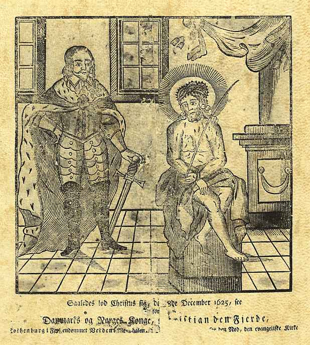 Иохан Рудольф Тиле. Явление Христа королю Кристиану IV