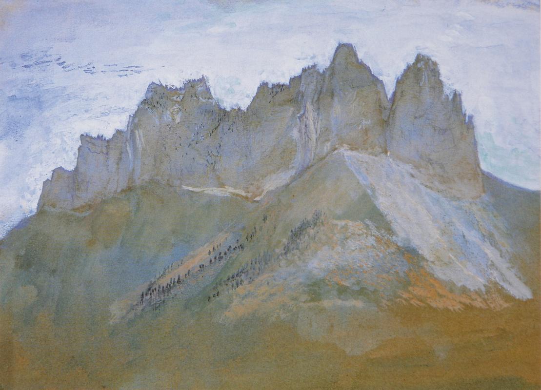 Джон Рёскин. Скалы Ланфо и озеро Аннеси