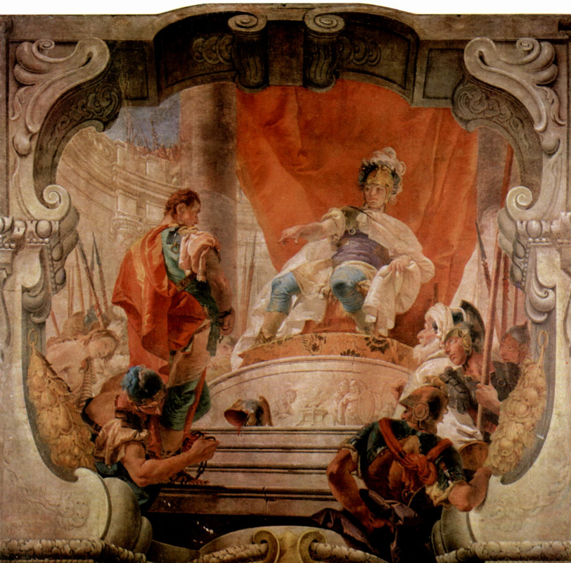 Giovanni Battista Tiepolo. The frescoes of the Palazzo Dugnani. Scipio and the slave