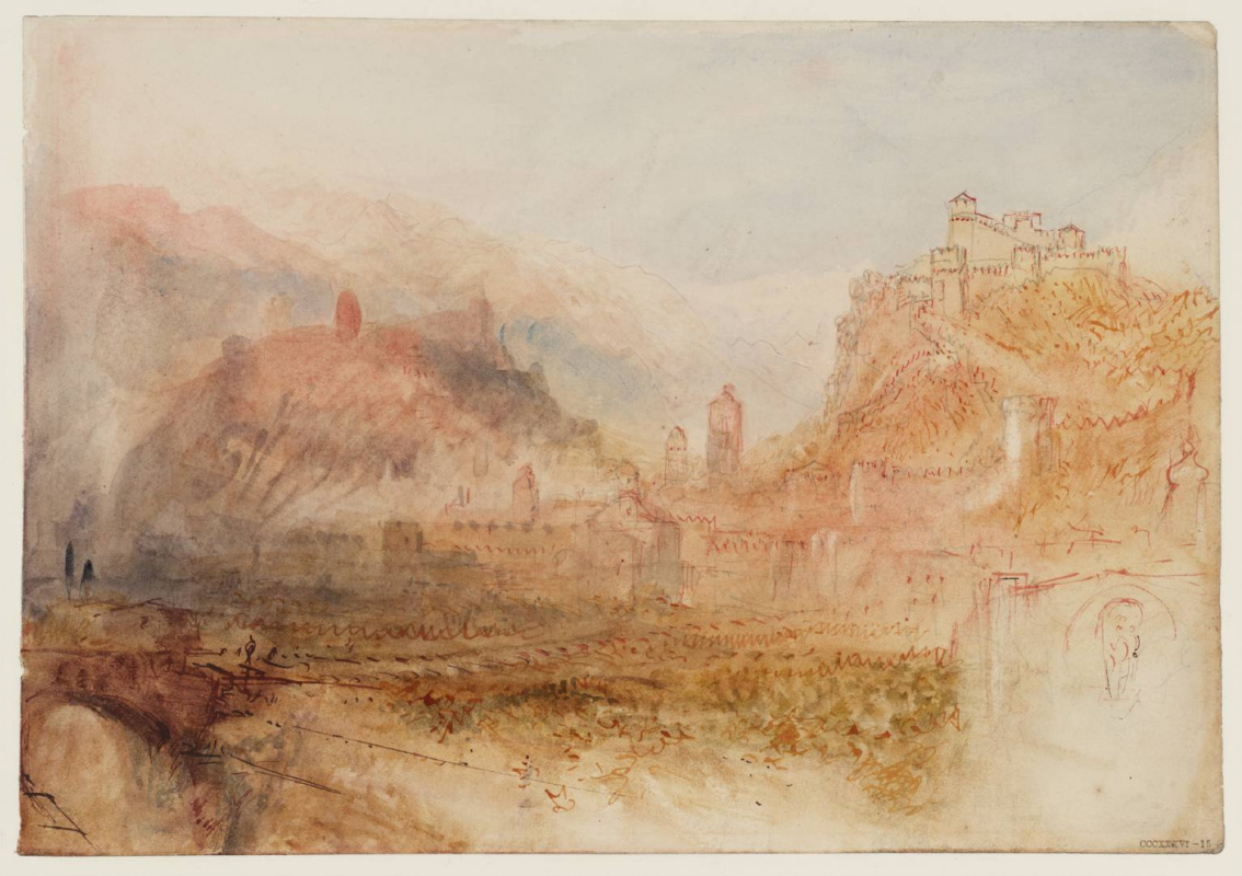 Joseph Mallord William Turner. View of Bellinzona from the South-East