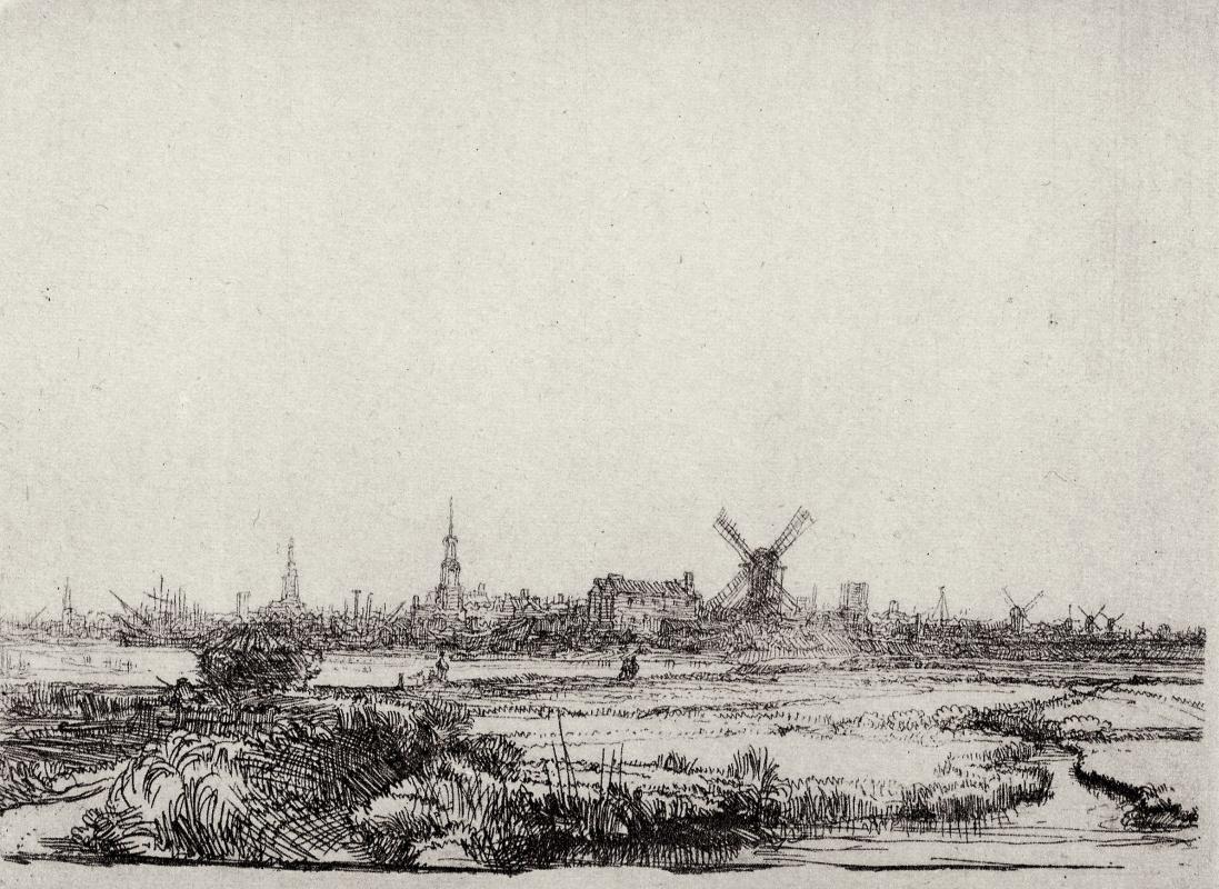 Рембрандт Харменс ван Рейн. Вид Амстердама