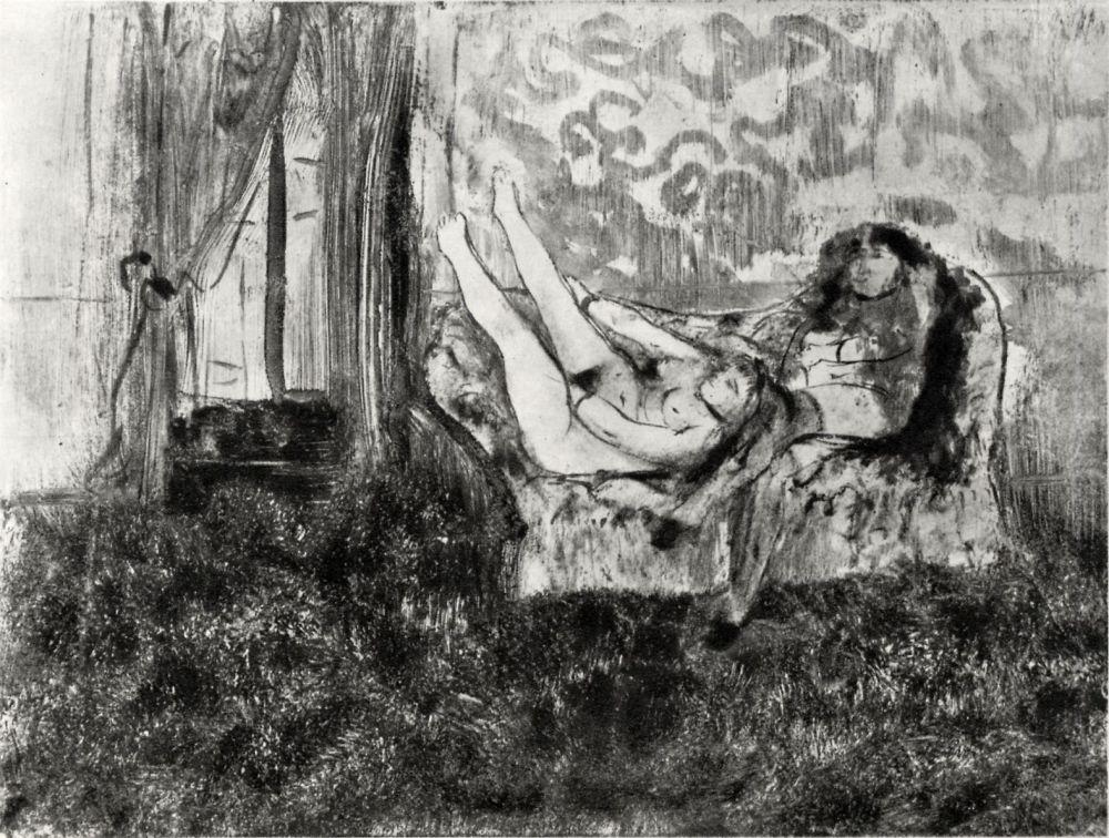 Edgar Degas. Siesta in the cabin