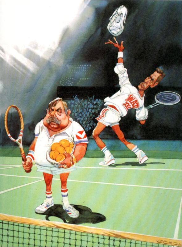 Джон Луркер. Тенис