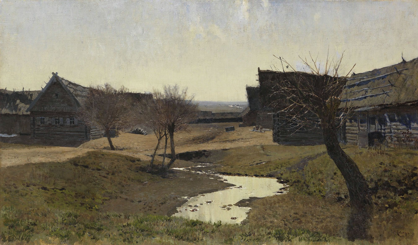Isaac Levitan. Russian village