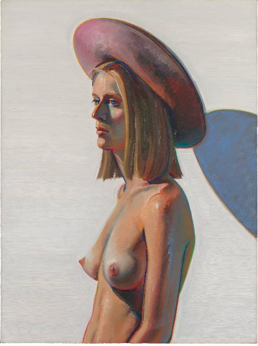 Девушка в розовой шляпе