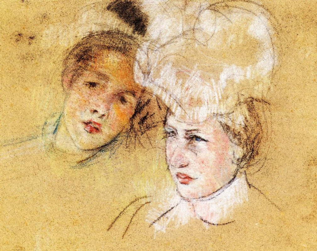 Mary Cassatt. Leontine and unknown friend