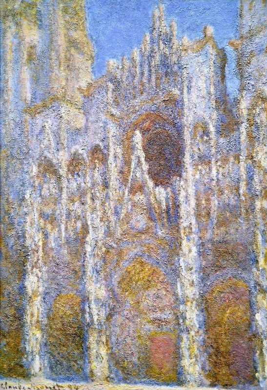 Claude Monet. Rouen Cathedral, sunlight effect