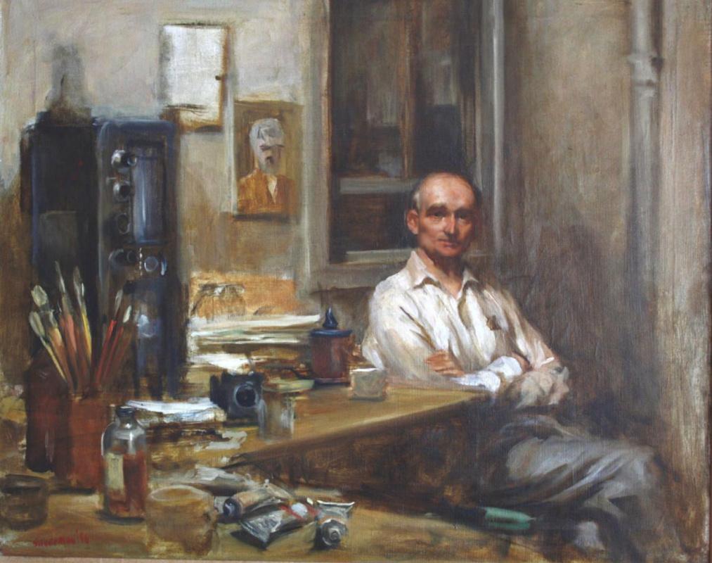 Burton Silverman. Portrait Of Emile Goldfus