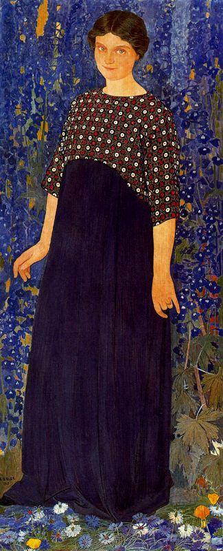 Эрнест Билер. Девушка в синем