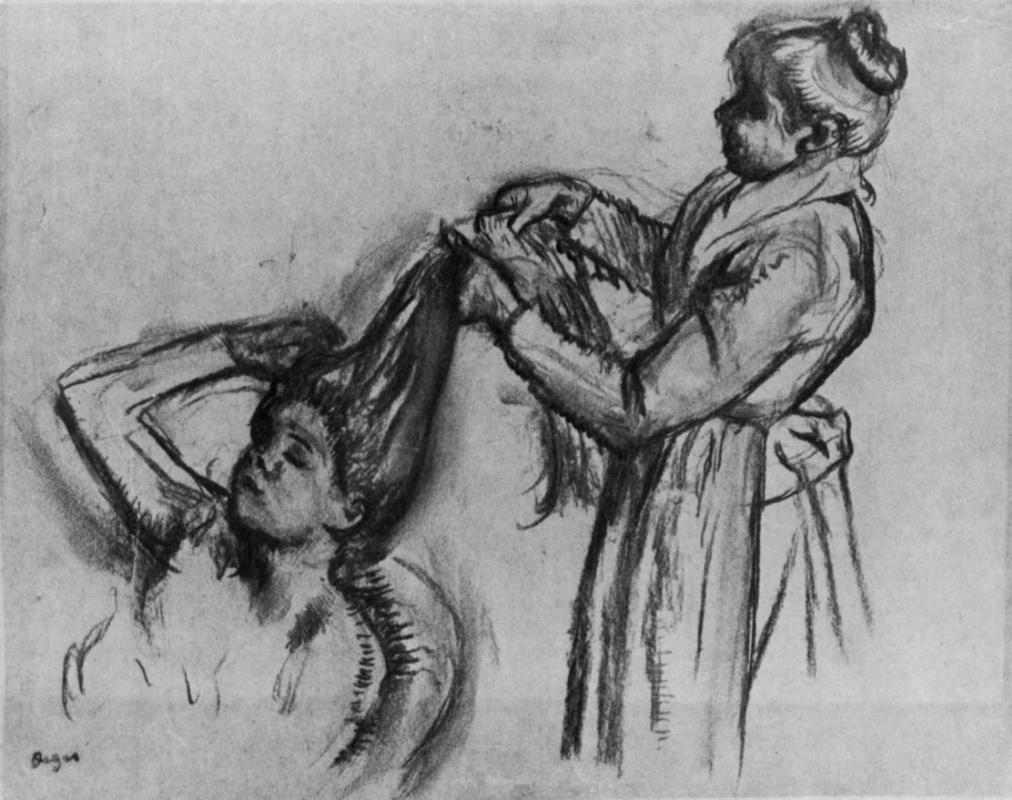 Edgar Degas. Combing hair