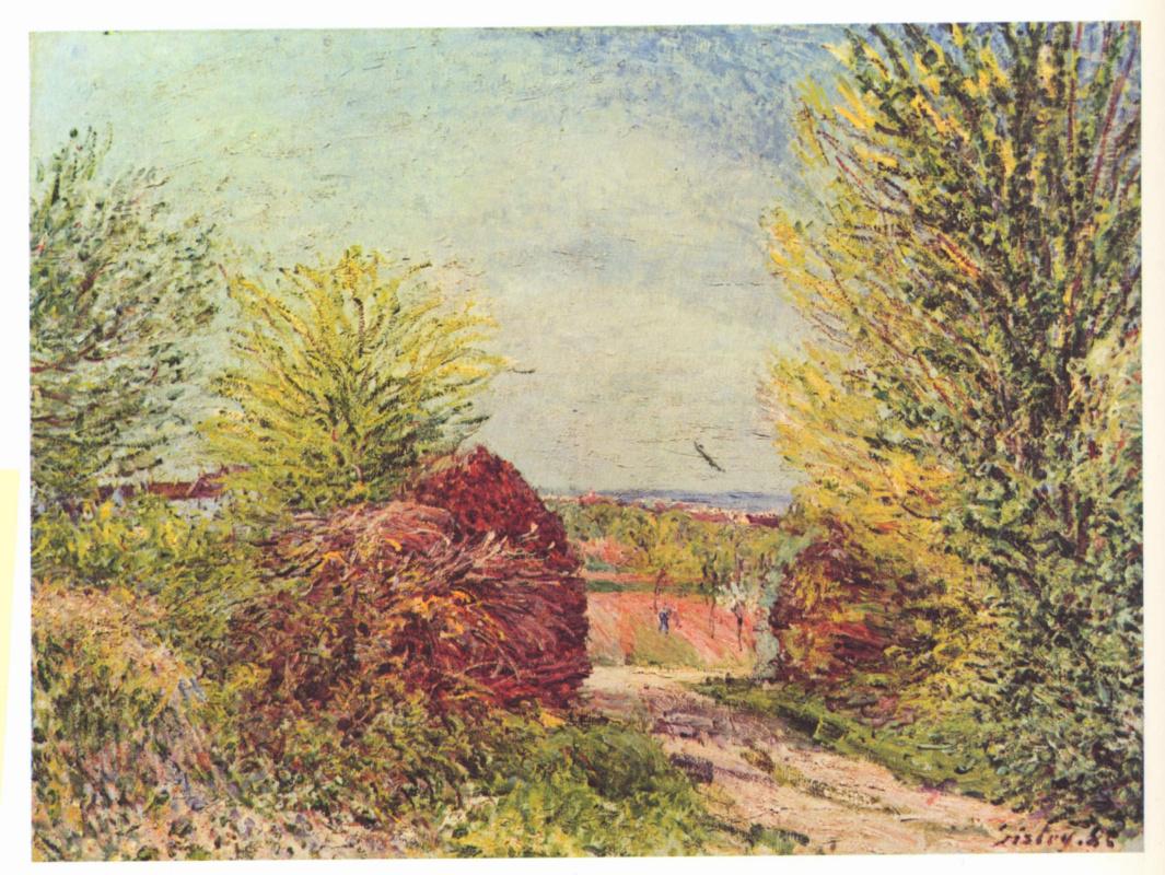 Alfred Sisley. The road to Vienna-Nadon spring