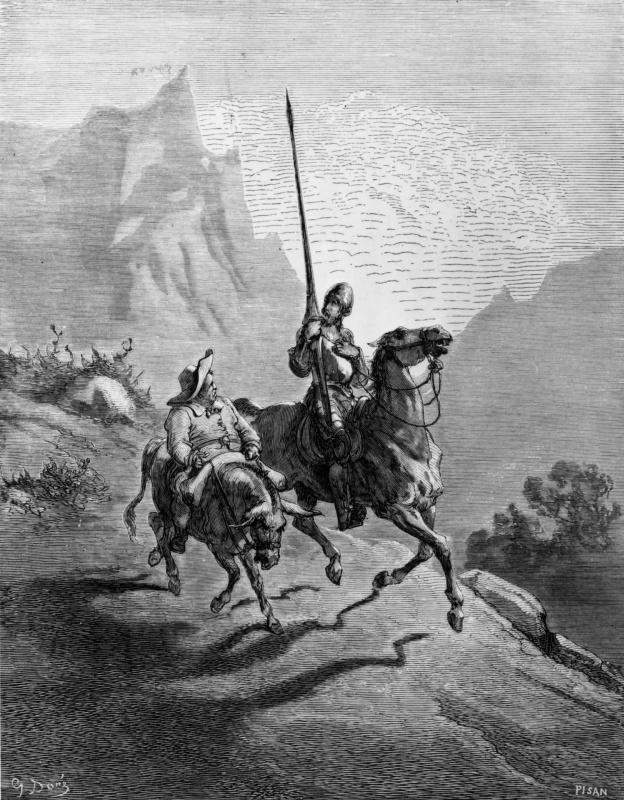 Paul Gustave Dore. Illustration to M.Servantes' novel Don Quixote of La Mancha