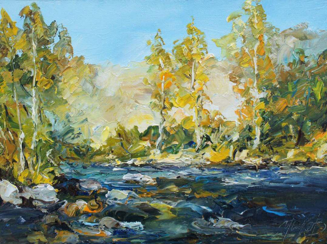 """Valery Ivanovich Ushkov. """"Pictures from the forest. Autumn"""""""