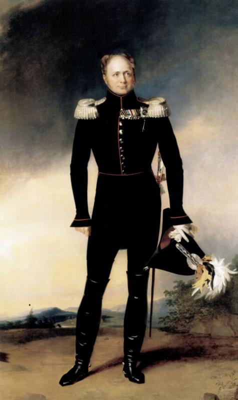 George Dow. Portrait of Emperor Alexander I