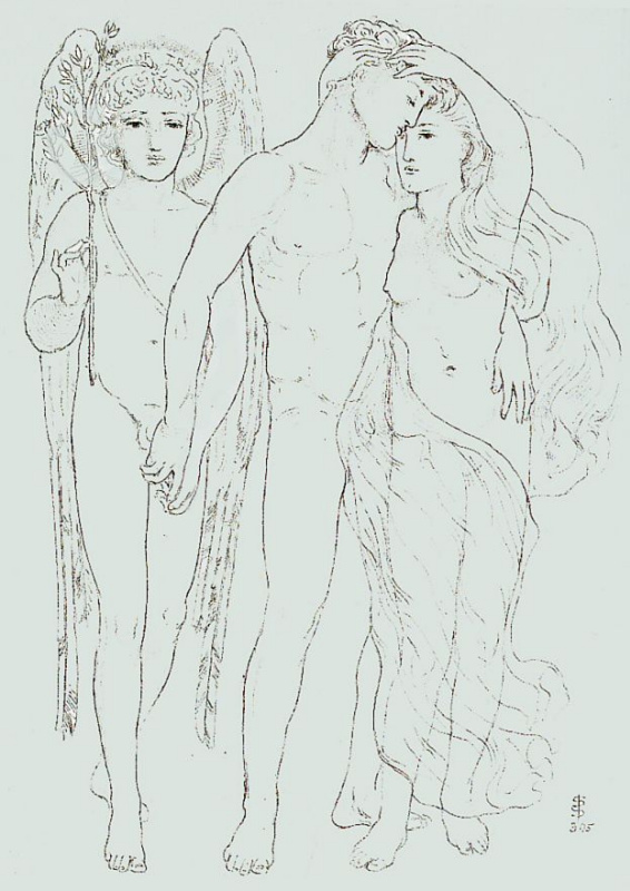 Симеон Соломон. Жених, невеста и печальный Амур