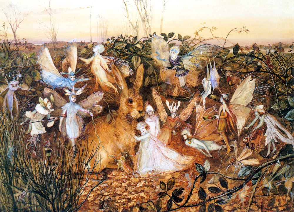 John Anster Fitzgerald. Rabbit among the fairies
