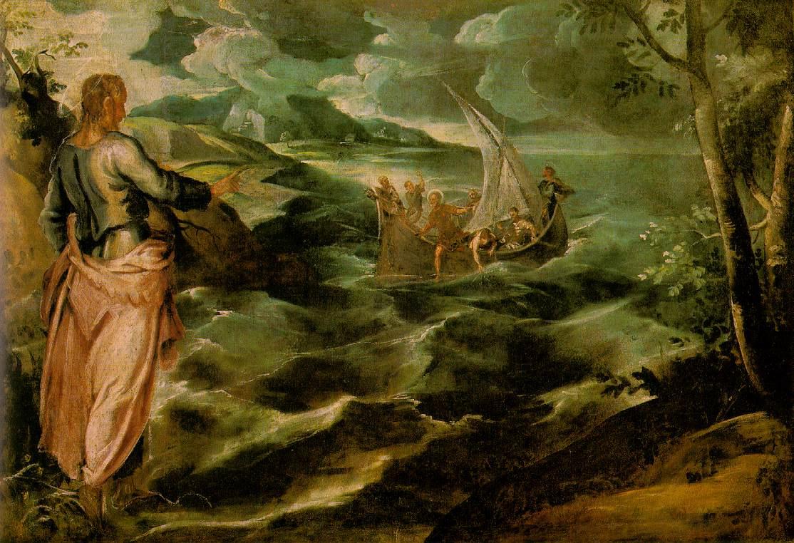 Якопо Тинторетто. Христос в Галилейском море