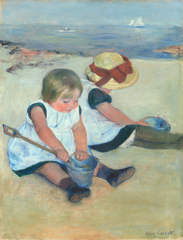 Mary Cassatt. Children playing on the beach