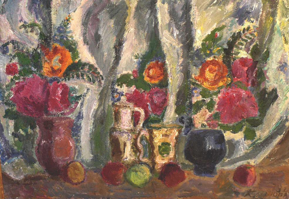 "Alexandra Semenovna Kolganova. ""The Flower Pots"""