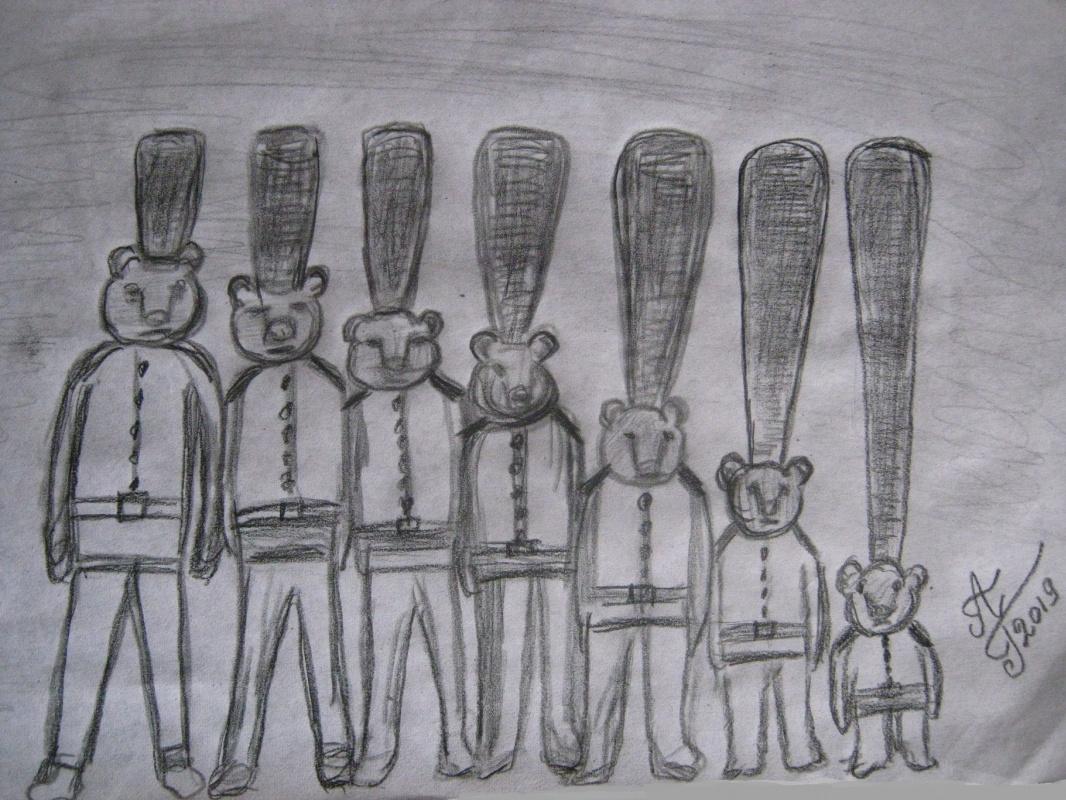 """Alexey Grishankov (Alegri). """"Королевская медвежья гвардия""""(Royal Grizzly Guard)"""
