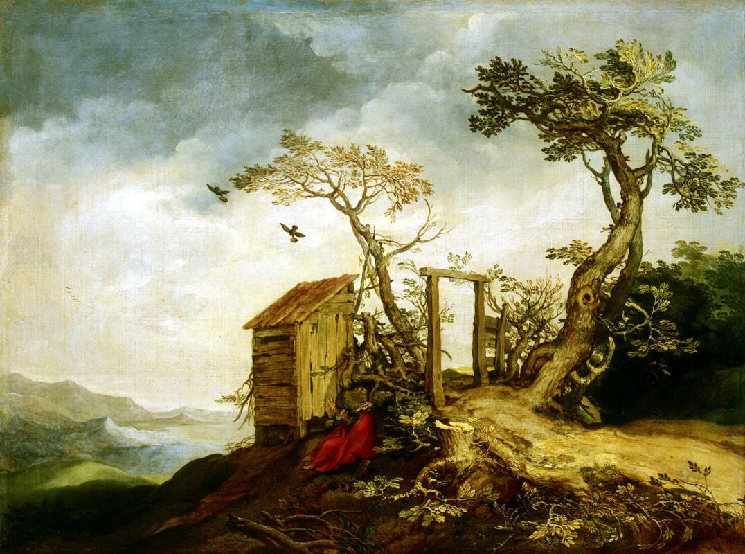 Abraham Bloomart. Landscape with the Prophet Elijah